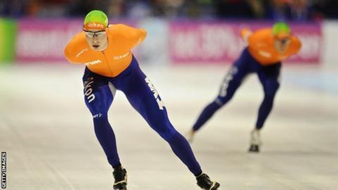 Dutch speed skater Sven Kramer