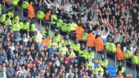 Swansea and Cardiff fans