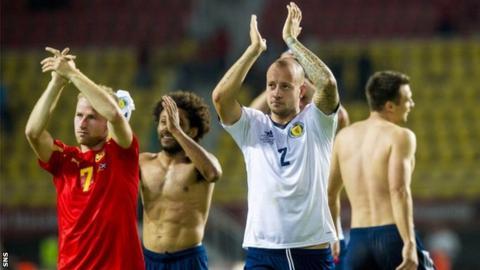 Scotland celebrate in Macedonia