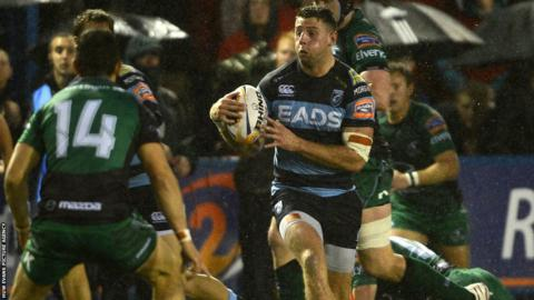 Alex Cuthbert returns at the Arms Park following his 2013 Lions exploits