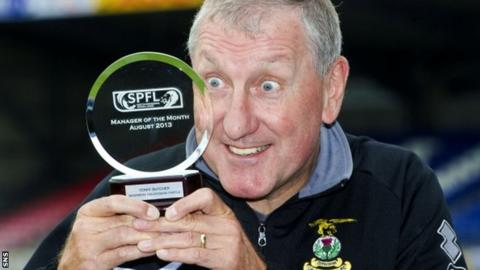 Terry Butcher with his award