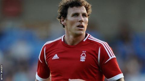 Nottingham Forest striker Darius Henderson