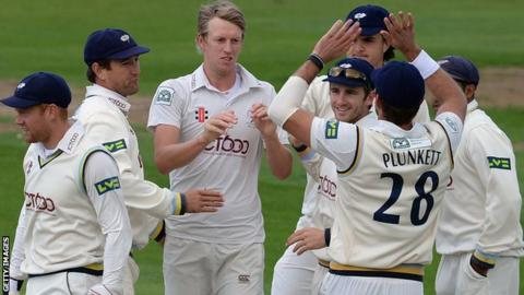 Yorkshire celebrate against Middlesex