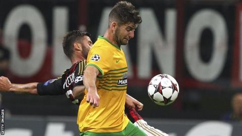 Charlie Mulgrew in action against AC Milan