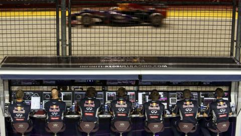 Red Bull technicians
