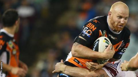 Wests Tigers forward Keith Galloway