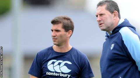 Gareth Baber (left) and Phil Davies