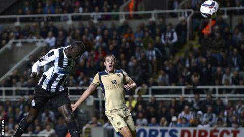 Newcastle striker Papiss Cisse