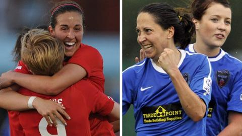 Liverpool and Bristol Academy celebrate goals