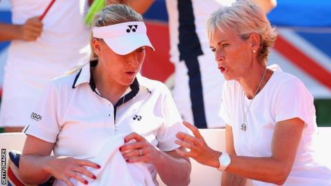 Elena Baltacha and Judy Murray