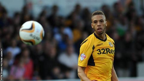 Christian Jolley in action for Newport County