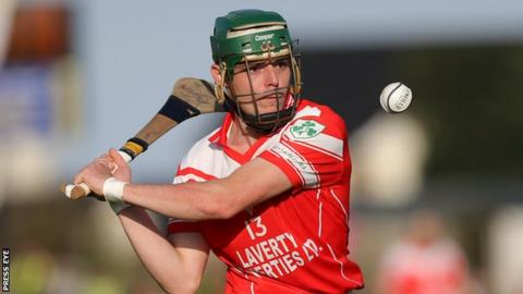 Benny McCarry hit 1-4 for Loughgiel against Ballygalget
