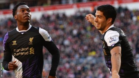 Daniel Sturridge and Luis Suarez
