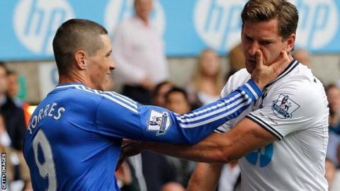 Fernando Torres (left) and Jan Vertonghen
