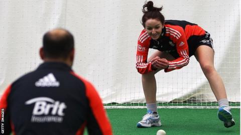 Kate Cross in training