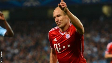 6650b8a15 Man City easier to beat than we thought - Bayern s Arjen Robben ...