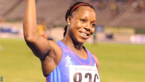 Veronica Campbell-Brown tested positive after winning the Jamaican International Invitational in May