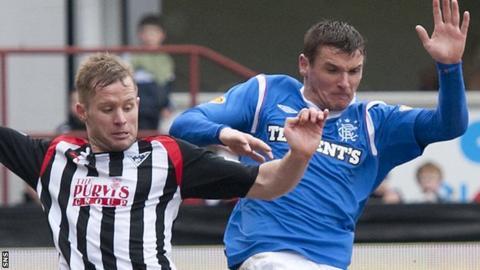 Dunfermline against Rangers
