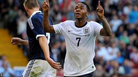 Raheem Sterling (right)