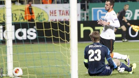 Valencia score against Kuban Krasnador