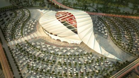 An artist's impression of a Qatar World Cup stadium