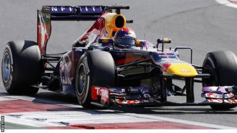 Sebastian Vettel during the third practice session of the Korean F1 Grand Prix