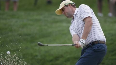 Marc Leishman in action at the Presidents Cup