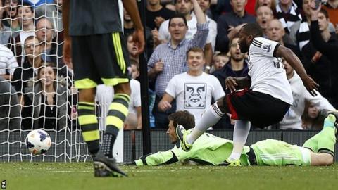 Fulham striker Darren Bent