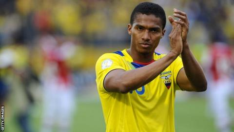 Antonio Valencia playing for Ecuador