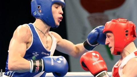 Michael Conlan in action at this year's European Championships
