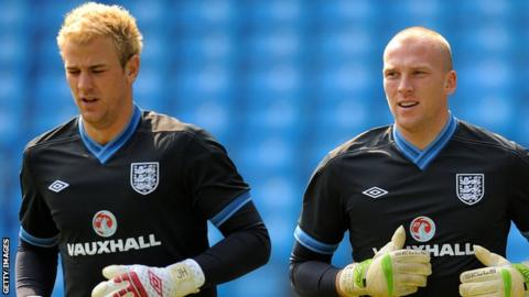Joe Hart and John Ruddy