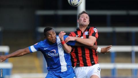 Scott Laird in action for Preston against Peterborough