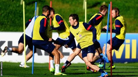 England players training at St George's Park