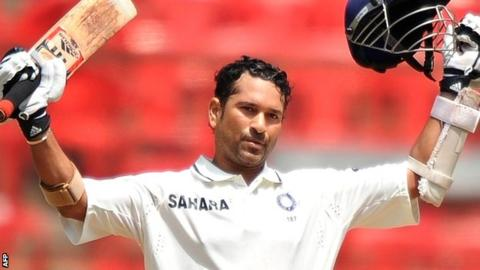 India's world record run-scorer Sachin Tendulkar