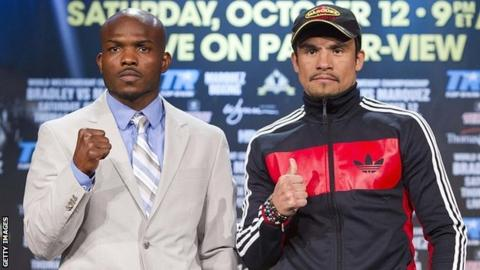 Timothy Bradley and Juan Manuel Marquez