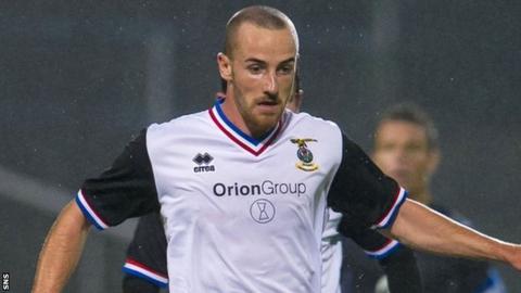 Inverness Caledonian Thistle midfielder James Vincent
