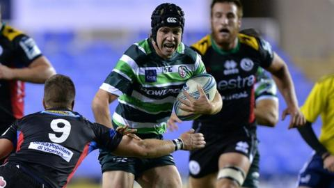 Myles Dorrian weaves his way through to score the second try of the night for London Irish