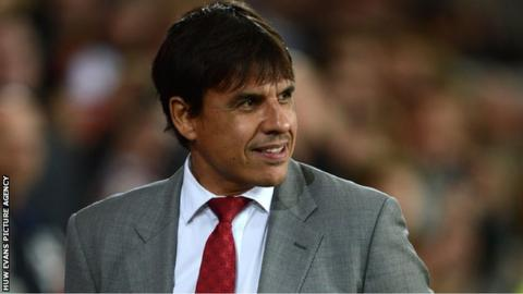 Wales manager Chris Coleman smiling after his side's 1-0 win over Macedonia