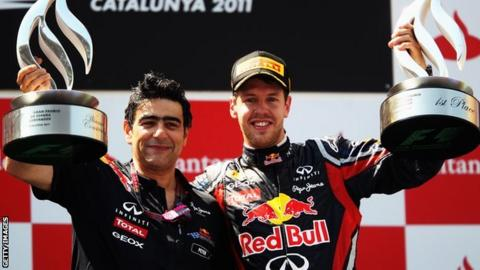 Peter Prodromou and Sebastian Vettel