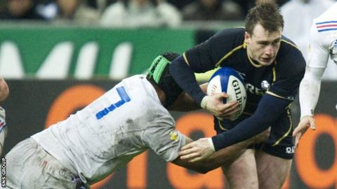 Stuart Hogg in action for Scotland