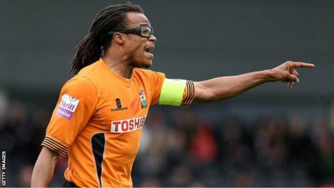 Barnet player-manager Edgar Davids was one of three players sent off