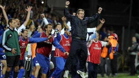 Bosnia celebrate beating Slovakia
