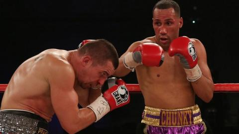 James DeGale (right) in action against Stjepan Bozic