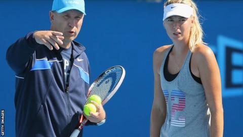 Thomas Hogstedt and Maria Sharapova