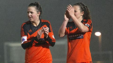 Glasgow City duo Suzanne Lappin and Rachel Corsie