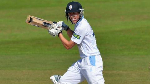 Derbyshire batsman Ben Slater