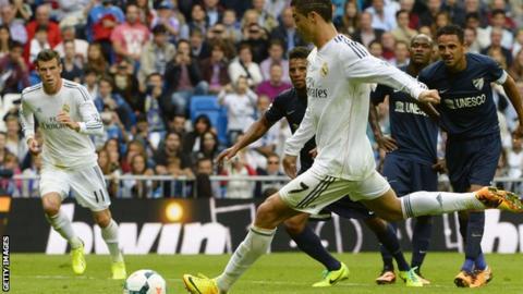 Real Madrid v Malaga - Cristiano Ronaldo