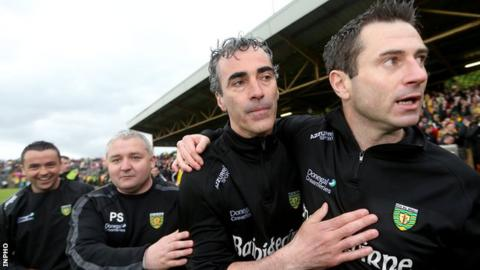 Rory Gallagher to join Maxi Curran (far left) in managing Donegal Under-21s