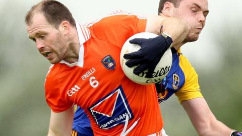 Armagh's Ciaran McKeever joins the Irish Rules squad