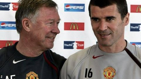 Sir Alex Ferguson (left) and Roy Keane